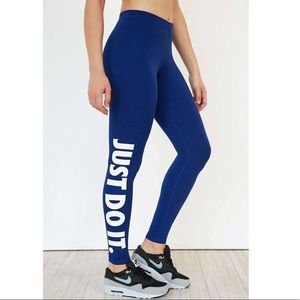Blue Just Do It leggings